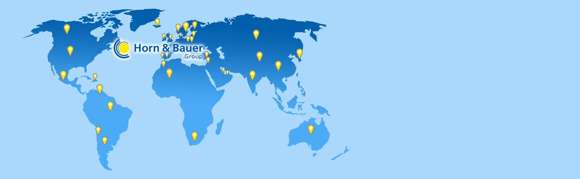 We are internationally positioned <br> and serve customers all over the world